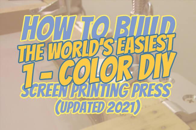 1-Color DIY Screen Printing Press main image