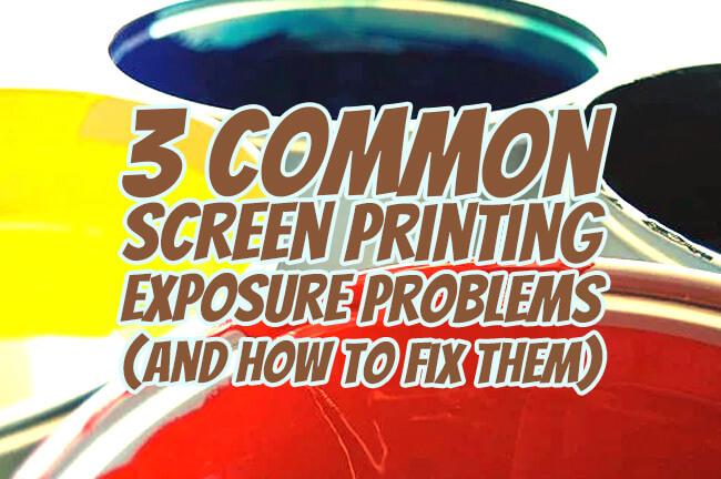 3 common screen printing scenarios
