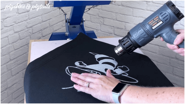 cure screen printing t-shirts