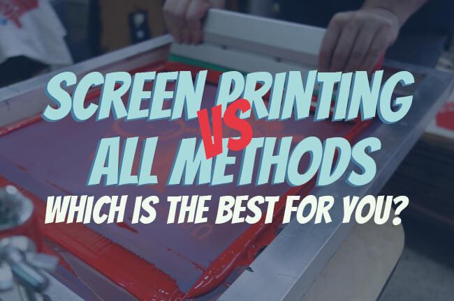 screen printing vs main